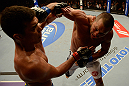 ANAHEIM, CA - FEBRUARY 23:  (R-L) Dan Henderson punches Lyoto Machida in their light heavyweight bout during UFC 157 at Honda Center on February 23, 2013 in Anaheim, California.  (Photo by Donald Miralle/Zuffa LLC/Zuffa LLC via Getty Images) *** Local Caption *** Lyoto Machida; Dan Henderson