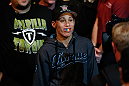 ANAHEIM, CA - FEBRUARY 23:  Liz Carmouche walks to the Octagon to face Ronda Rousey in their women&#39;s bantamweight title fight during UFC 157 at Honda Center on February 23, 2013 in Anaheim, California.  (Photo by Josh Hedges/Zuffa LLC/Zuffa LLC via Getty Images) *** Local Caption *** Ronda Rousey; Liz Carmouche