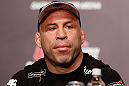 TOKYO, JAPAN - FEBRUARY 28: Wanderlei Silva interacts with media during a UFC press conference at the Hilton Sjinjuku Hotel on February 28, 2013 in Tokyo, Japan. (Photo by Josh Hedges/Zuffa LLC/Zuffa LLC via Getty Images)