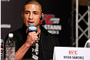 TOKYO, JAPAN - FEBRUARY 28: Diego Sanchez interacts with media during a UFC press conference at the Hilton Sjinjuku Hotel on February 28, 2013 in Tokyo, Japan. (Photo by Josh Hedges/Zuffa LLC/Zuffa LLC via Getty Images)