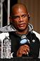 TOKYO, JAPAN - FEBRUARY 28: Hector Lombard interacts with media during a UFC press conference at the Hilton Sjinjuku Hotel on February 28, 2013 in Tokyo, Japan. (Photo by Josh Hedges/Zuffa LLC/Zuffa LLC via Getty Images)
