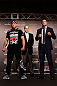 TOKYO, JAPAN - FEBRUARY 28: (L-R) Opponents Wanderlei Silva and Brian Stann pose for photos during a UFC press conference at the Hilton Sjinjuku Hotel on February 28, 2013 in Tokyo, Japan. (Photo by Josh Hedges/Zuffa LLC/Zuffa LLC via Getty Images)