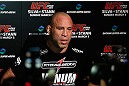 TOKYO, JAPAN - FEBRUARY 28: Wanderlei Silva talks with media after an open training session at the Hilton Sjinjuku Hotel on February 28, 2013 in Tokyo, Japan. (Photo by Josh Hedges/Zuffa LLC/Zuffa LLC via Getty Images)