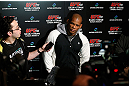 TOKYO, JAPAN - FEBRUARY 28: Hector Lombard talks with media after an open training session at the Hilton Sjinjuku Hotel on February 28, 2013 in Tokyo, Japan. (Photo by Josh Hedges/Zuffa LLC/Zuffa LLC via Getty Images)