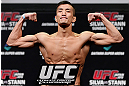 SAITAMA, JAPAN - MARCH 02: Kyung Ho Kang weighs in during the UFC on FUEL TV weigh-in at Saitama Super Arena on March 2, 2013 in Saitama, Japan. (Photo by Josh Hedges/Zuffa LLC/Zuffa LLC via Getty Images)
