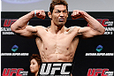 SAITAMA, JAPAN - MARCH 02: Riki Fukuda weighs in during the UFC on FUEL TV weigh-in at Saitama Super Arena on March 2, 2013 in Saitama, Japan. (Photo by Josh Hedges/Zuffa LLC/Zuffa LLC via Getty Images)