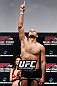 SAITAMA, JAPAN - MARCH 02: Siyar Bahadurzada weighs in during the UFC on FUEL TV weigh-in at Saitama Super Arena on March 2, 2013 in Saitama, Japan. (Photo by Josh Hedges/Zuffa LLC/Zuffa LLC via Getty Images)