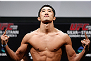 SAITAMA, JAPAN - MARCH 02: Dong Hyun Kim weighs in during the UFC on FUEL TV weigh-in at Saitama Super Arena on March 2, 2013 in Saitama, Japan. (Photo by Josh Hedges/Zuffa LLC/Zuffa LLC via Getty Images)