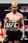 SAITAMA, JAPAN - MARCH 02: Mizuto Hirota weighs in during the UFC on FUEL TV weigh-in at Saitama Super Arena on March 2, 2013 in Saitama, Japan. (Photo by Josh Hedges/Zuffa LLC/Zuffa LLC via Getty Images)
