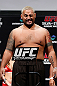 SAITAMA, JAPAN - MARCH 02: Mark Hunt weighs in during the UFC on FUEL TV weigh-in at Saitama Super Arena on March 2, 2013 in Saitama, Japan. (Photo by Josh Hedges/Zuffa LLC/Zuffa LLC via Getty Images)