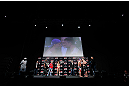 SAITAMA, JAPAN - MARCH 02: A general view of the stage as opponents Wanderlei Silva (L) and Brian Stann (R) face off during the UFC on FUEL TV weigh-in at Saitama Super Arena on March 2, 2013 in Saitama, Japan. (Photo by Josh Hedges/Zuffa LLC/Zuffa LLC via Getty Images)