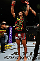 SAITAMA, JAPAN - MARCH 03:  Alex Caceres reacts after defeating Kyung Ho Kang in their bantamweight fight during the UFC on FUEL TV event at Saitama Super Arena on March 3, 2013 in Saitama, Japan.  (Photo by Josh Hedges/Zuffa LLC/Zuffa LLC via Getty Images)