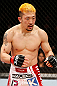 SAITAMA, JAPAN - MARCH 03:  Mizuto Hirota stands in the Octagon during his featherweight fight against Rani Yahya during the UFC on FUEL TV event at Saitama Super Arena on March 3, 2013 in Saitama, Japan.  (Photo by Josh Hedges/Zuffa LLC/Zuffa LLC via Getty Images)