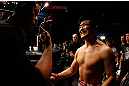 SAITAMA, JAPAN - MARCH 03:  Takanori Gomi prepares to enter the Octagon before his lightweight fight against Diego Sanchez during the UFC on FUEL TV event at Saitama Super Arena on March 3, 2013 in Saitama, Japan.  (Photo by Josh Hedges/Zuffa LLC/Zuffa LLC via Getty Images)