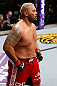 SAITAMA, JAPAN - MARCH 03:  Mark Hunt reacts after knocking out Stefan Struve in their heavyweight fight during the UFC on FUEL TV event at Saitama Super Arena on March 3, 2013 in Saitama, Japan.  (Photo by Josh Hedges/Zuffa LLC/Zuffa LLC via Getty Images)