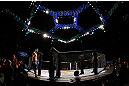 SAITAMA, JAPAN - MARCH 03:  Brian Stann enters the Octagon before his light heavyweight fight against Wanderlei Silva during the UFC on FUEL TV event at Saitama Super Arena on March 3, 2013 in Saitama, Japan.  (Photo by Josh Hedges/Zuffa LLC/Zuffa LLC via Getty Images)