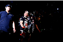 SAITAMA, JAPAN - MARCH 03:  Wanderlei Silva enters the arena before his light heavyweight fight against Brian Stann during the UFC on FUEL TV event at Saitama Super Arena on March 3, 2013 in Saitama, Japan.  (Photo by Josh Hedges/Zuffa LLC/Zuffa LLC via Getty Images)