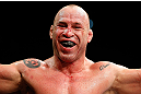 SAITAMA, JAPAN - MARCH 03:  Wanderlei Silva reacts after knocking out Brian Stann in their light heavyweight fight during the UFC on FUEL TV event at Saitama Super Arena on March 3, 2013 in Saitama, Japan.  (Photo by Josh Hedges/Zuffa LLC/Zuffa LLC via Getty Images)