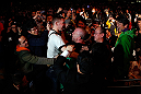 SAITAMA, JAPAN - MARCH 03:  Wanderlei Silva celebrates with fans in the arena after knocking out Brian Stann in their light heavyweight fight during the UFC on FUEL TV event at Saitama Super Arena on March 3, 2013 in Saitama, Japan.  (Photo by Josh Hedges/Zuffa LLC/Zuffa LLC via Getty Images)