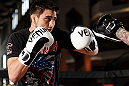 MONTREAL, QC - MARCH 13:  Carlos Condit conducts an open training session for fans and media ahead of his UFC 158 bout at Complexe Desjardins on March 13, 2013 in Montreal, Quebec, Canada.  (Photo by Josh Hedges/Zuffa LLC/Zuffa LLC via Getty Images)
