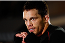MONTREAL, QC - MARCH 13:  Jake Ellenberger conducts an open training session for fans and media ahead of his UFC 158 bout at Complexe Desjardins on March 13, 2013 in Montreal, Quebec, Canada.  (Photo by Josh Hedges/Zuffa LLC/Zuffa LLC via Getty Images)