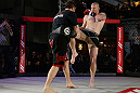 MONTREAL, QC - MARCH 13:  Nate Marquardt (R) conducts an open training session for fans and media ahead of his UFC 158 bout at Complexe Desjardins on March 13, 2013 in Montreal, Quebec, Canada.  (Photo by Josh Hedges/Zuffa LLC/Zuffa LLC via Getty Images)