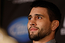 MONTREAL, QC - MARCH 14:  Carlos Condit interacts with media during the final press conference ahead of his UFC 158 bout at Bell Centre on March 14, 2013 in Montreal, Quebec, Canada.  (Photo by Josh Hedges/Zuffa LLC/Zuffa LLC via Getty Images)
