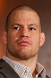 MONTREAL, QC - MARCH 14:  Nate Marquardt interacts with media during the final press conference ahead of his UFC 158 bout at Bell Centre on March 14, 2013 in Montreal, Quebec, Canada.  (Photo by Josh Hedges/Zuffa LLC/Zuffa LLC via Getty Images)