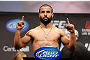 MONTREAL, QC - MARCH 15: John Makdessi weighs in during the UFC 158 weigh-in at Bell Centre on March 15, 2013 in Montreal, Quebec, Canada.  (Photo by Josh Hedges/Zuffa LLC/Zuffa LLC via Getty Images)
