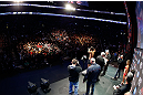 MONTREAL, QC - MARCH 15:  Johny Hendricks weighs in during the UFC 158 weigh-in at Bell Centre on March 15, 2013 in Montreal, Quebec, Canada.  (Photo by Josh Hedges/Zuffa LLC/Zuffa LLC via Getty Images)