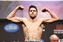 MONTREAL, QC - MARCH 15: Carlos Condit weighs in during the UFC 158 weigh-in at Bell Centre on March 15, 2013 in Montreal, Quebec, Canada.  (Photo by Josh Hedges/Zuffa LLC/Zuffa LLC via Getty Images)