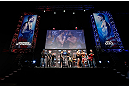 MONTREAL, QC - MARCH 15:  (L-R) Opponents Carlos Condit and Johny Hendricks face off during the UFC 158 weigh-in at Bell Centre on March 15, 2013 in Montreal, Quebec, Canada.  (Photo by Josh Hedges/Zuffa LLC/Zuffa LLC via Getty Images)