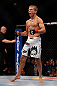 MONTREAL, QC - MARCH 16: T.J. Dillashaw reacts after defeating Issei Tamura in their bantamweight bout during the UFC 158 event at Bell Centre on March 16, 2013 in Montreal, Quebec, Canada.  (Photo by Jonathan Ferrey/Zuffa LLC/Zuffa LLC via Getty Images)