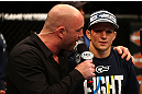 MONTREAL, QC - MARCH 16:  [CAPTION] in their bantamweight bout during the UFC 158 event at Bell Centre on March 16, 2013 in Montreal, Quebec, Canada.  (Photo by Jonathan Ferrey/Zuffa LLC/Zuffa LLC via Getty Images)