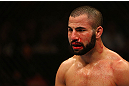 MONTREAL, QC - MARCH 16: John Makdessi prepares for another round against Daron Cruickshank during the UFC 158 event at Bell Centre on March 16, 2013 in Montreal, Quebec, Canada.  (Photo by Jonathan Ferrey/Zuffa LLC/Zuffa LLC via Getty Images)