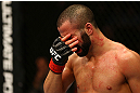 MONTREAL, QC - MARCH 16: John Makdessi between rounds during his fight against Daron Cruickshank in their lightweight bout during the UFC 158 event at Bell Centre on March 16, 2013 in Montreal, Quebec, Canada.  (Photo by Jonathan Ferrey/Zuffa LLC/Zuffa LLC via Getty Images)