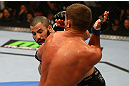 MONTREAL, QC - MARCH 16: John Makdessi lands a punch against Daron Cruickshank in their lightweight bout during the UFC 158 event at Bell Centre on March 16, 2013 in Montreal, Quebec, Canada.  (Photo by Jonathan Ferrey/Zuffa LLC/Zuffa LLC via Getty Images)