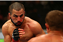 MONTREAL, QC - MARCH 16: John Makdessi fights Daron Cruickshank in their lightweight bout during the UFC 158 event at Bell Centre on March 16, 2013 in Montreal, Quebec, Canada.  (Photo by Jonathan Ferrey/Zuffa LLC/Zuffa LLC via Getty Images)