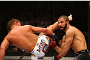 MONTREAL, QC - MARCH 16: Daron Cruickshank lands a kick against John Makdessi in their lightweight bout during the UFC 158 event at Bell Centre on March 16, 2013 in Montreal, Quebec, Canada.  (Photo by Jonathan Ferrey/Zuffa LLC/Zuffa LLC via Getty Images)
