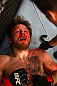 MONTREAL, QC - MARCH 16: Dan Miller exhausted on the canvas after being defeated by Jordan Mein in their welterweight bout during the UFC 158 event at Bell Centre on March 16, 2013 in Montreal, Quebec, Canada.  (Photo by Jonathan Ferrey/Zuffa LLC/Zuffa LLC via Getty Images)