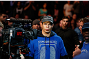 MONTREAL, QC - MARCH 16:  Bobby Voelker walks into the arena to fight Patrick Cote in their welterweight bout during the UFC 158 event at Bell Centre on March 16, 2013 in Montreal, Quebec, Canada.  (Photo by Jonathan Ferrey/Zuffa LLC/Zuffa LLC via Getty Images)