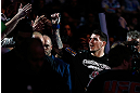 MONTREAL, QC - MARCH 16:  Chris Camozzi enters the arena before his middleweight bout against Nick Ring during the UFC 158 event at Bell Centre on March 16, 2013 in Montreal, Quebec, Canada.  (Photo by Josh Hedges/Zuffa LLC/Zuffa LLC via Getty Images)