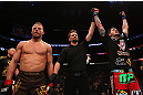 MONTREAL, QC - MARCH 16:  Chris Camozzi (R) reacts after defeating Nick Ring in their middleweight bout during the UFC 158 event at Bell Centre on March 16, 2013 in Montreal, Quebec, Canada.  (Photo by Jonathan Ferrey/Zuffa LLC/Zuffa LLC via Getty Images)