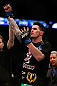 MONTREAL, QC - MARCH 16:  Chris Camozzi reacts after defeating Nick Ring in their middleweight bout during the UFC 158 event at Bell Centre on March 16, 2013 in Montreal, Quebec, Canada.  (Photo by Josh Hedges/Zuffa LLC/Zuffa LLC via Getty Images)
