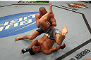 MONTREAL, QC - MARCH 16:  (L-R) Nick Diaz and Georges St-Pierre grapple in their welterweight championship bout during the UFC 158 event at Bell Centre on March 16, 2013 in Montreal, Quebec, Canada.  (Photo by Jonathan Ferrey/Zuffa LLC/Zuffa LLC via Getty Images)
