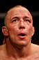 MONTREAL, QC - MARCH 16:  Georges St-Pierre reacts after his victory over Nick Diaz in their welterweight championship bout during the UFC 158 event at Bell Centre on March 16, 2013 in Montreal, Quebec, Canada.  (Photo by Josh Hedges/Zuffa LLC/Zuffa LLC via Getty Images)