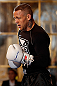STOCKHOLM, SWEDEN - APRIL 03:  Ross Pearson of England conducts an open training session at the Grand Hotel on April 3, 2013 in Stockholm, Sweden.  (Photo by Josh Hedges/Zuffa LLC/Zuffa LLC via Getty Images)