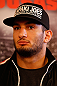 STOCKHOLM, SWEDEN - APRIL 03:  Gegard Mousasi of USA interacts with media during an interview session at the Grand Hotel on April 3, 2013 in Stockholm, Sweden.  (Photo by Josh Hedges/Zuffa LLC/Zuffa LLC via Getty Images)
