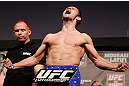 STOCKHOLM, SWEDEN - APRIL 05:  Brad Pickett weighs in during the UFC weigh-in at the Ericsson Globe Arena on April 5, 2013 in Stockholm, Sweden.  (Photo by Josh Hedges/Zuffa LLC/Zuffa LLC via Getty Images)