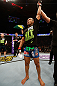 STOCKHOLM, SWEDEN - APRIL 06:  Diego Brandao reacts after his submission victory over Pablo Garza in their featherweight fight at the Ericsson Globe Arena on April 6, 2013 in Stockholm, Sweden.  (Photo by Josh Hedges/Zuffa LLC/Zuffa LLC via Getty Images)